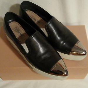 Miu Miu platform metal toe cap leather sneakers 8
